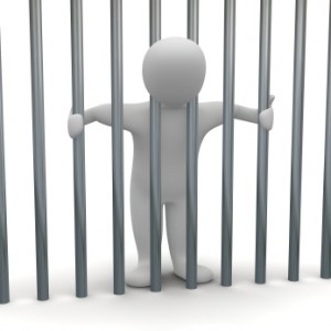 Man in cell