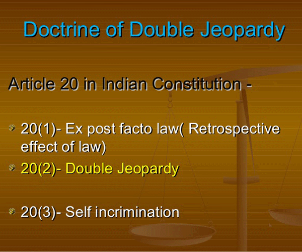 double jeopardy india